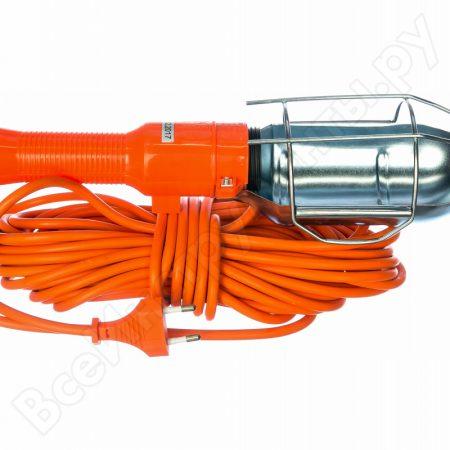 Светильник-переноска ПР-60-15 оранжевый 15м 60W E27 металлический кожух, без лампы LUX 4606400027027