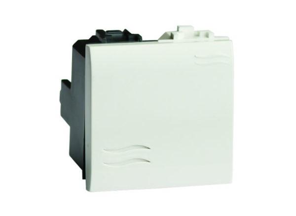 Выключатель 1-кл. 2мод. СП BRAVA 16А IP20 бел. DKC 76002B