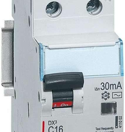 Выключатель автоматический дифференциального тока 2п (1P+N) C 16А 30мА тип AC 6кА DX3 2мод. Leg 411002