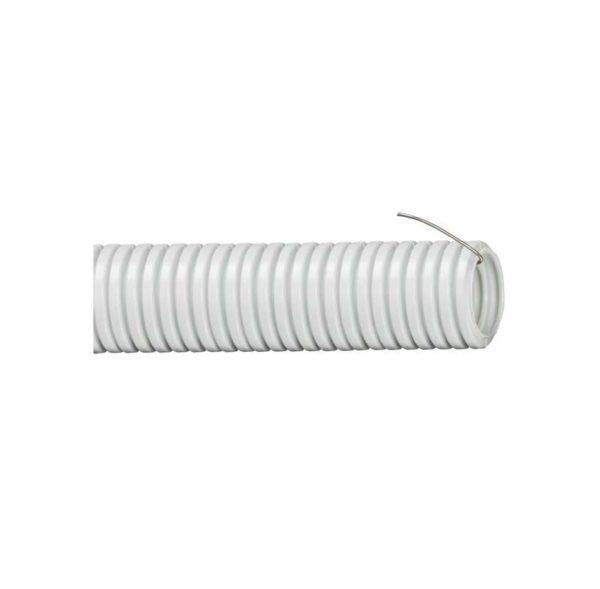 Труба гофрированная ПВХ d16мм с зондом сер. (уп.25м) ИЭК CTG20-16-K41-025I