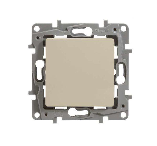 Механизм выключателя 1-кл. СП Etika 10АX безвинт. зажимы сл. кость Leg 672301