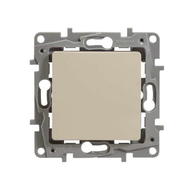 Механизм выключателя 1-кл. СП Etika 10АX с подсветкой / индикацией безвинт. зажимы сл. кость Leg 672303