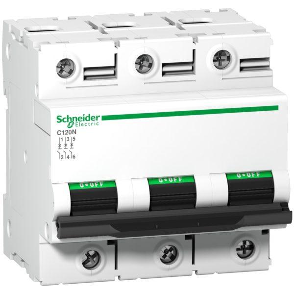 Выключатель автоматический модульный 3п C 100А C120N SchE A9N18367