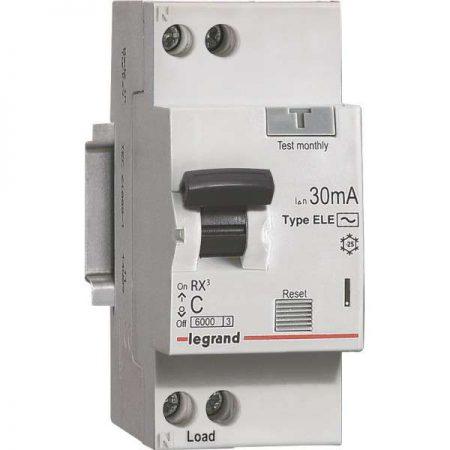 Выключатель автоматический дифференциального тока 1п (1P+N) C 16А 30мА тип AC 6кА RX3 Leg 419399