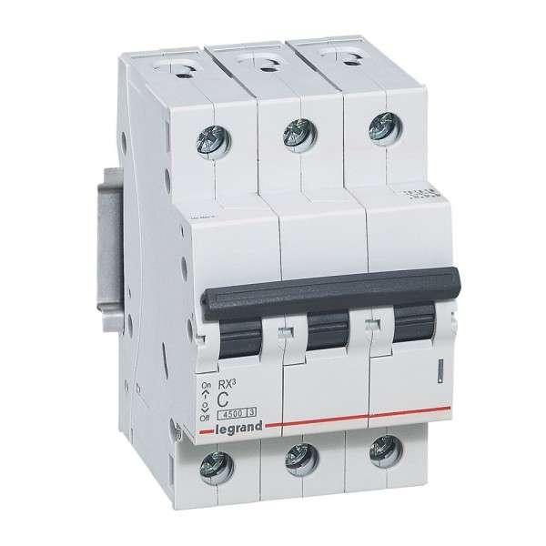 Выключатель автоматический модульный 3п C 32А 4.5кА RX3 Leg 419711
