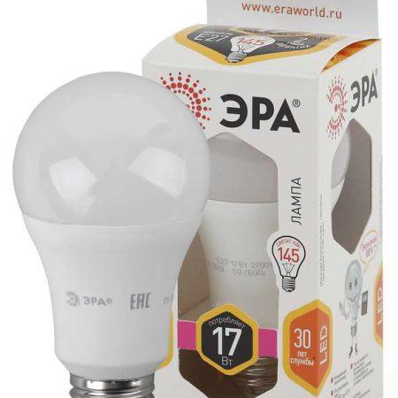 Лампа светодиодная A60-17W-827-E27 грушевидная 1360лм ЭРА Б0031699