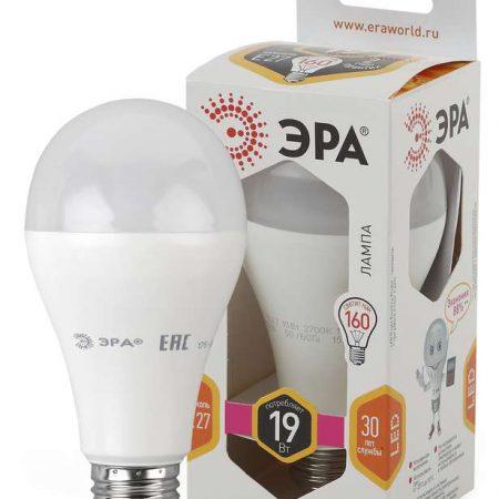 Лампа светодиодная A65-19W-827-E27 грушевидная 1520лм ЭРА Б0031702