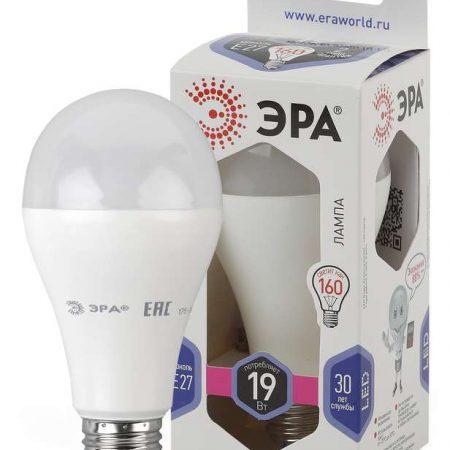 Лампа светодиодная A65-19W-860-E27 грушевидная 1520лм ЭРА Б0031704