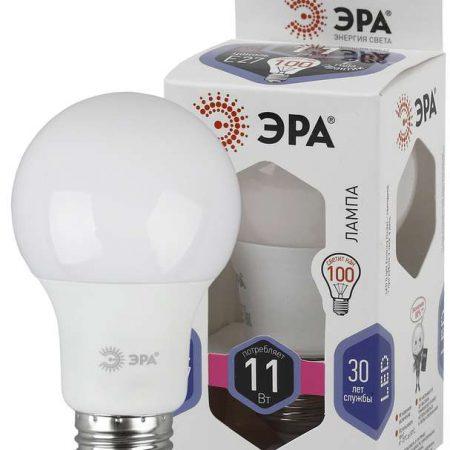 Лампа светодиодная A60-11W-860-E27 грушевидная 880лм ЭРА Б0031394