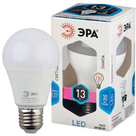 Лампа светодиодная A60-13W-840-E27 грушевидная 1040лм ЭРА Б0020537
