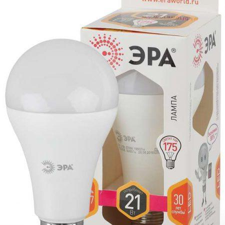 Лампа светодиодная A65-21W-827-E27 грушевидная 1680лм ЭРА Б0035331