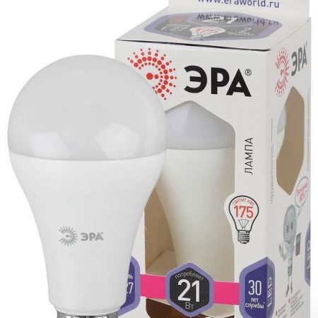 Лампа светодиодная A65-21W-860-E27 грушевидная 1680лм ЭРА Б0035333