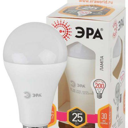 Лампа светодиодная A65-25W-827-E27 грушевидная 2000лм ЭРА Б0035334