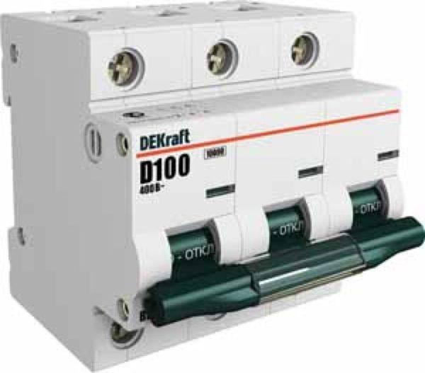 Выключатель автоматический модульный 3п C 80А 10кА ВА-201 SchE 13008DEK