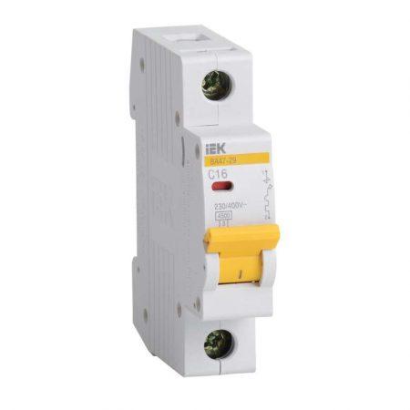 Выключатель автоматический модульный 1п C 10А 4.5кА ВА47-29 ИЭК MVA20-1-010-C