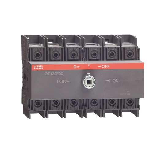 Рубильник реверсивный OT100 F3C 100А (80А AC23) ABB 1SCA105008R1001