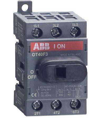 Рубильник 3п OT40 F3 40А (23А AC23) ABB 1SCA104902R1001