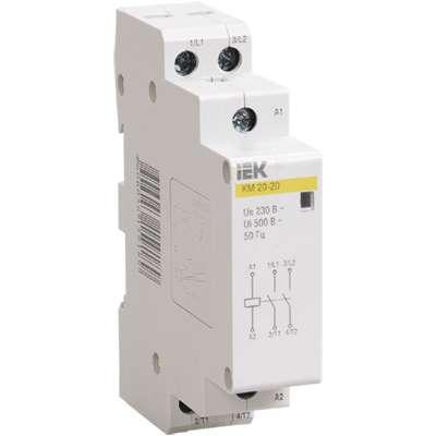 Контактор модульный КМ20-20 20А/2п 2НО 220В AC/DC ИЭК MKK10-20-20