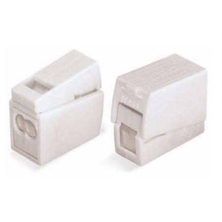 Клемма 2х(0.5-2.5кв.мм) для светильников с пастой бел. WAGO 224-122