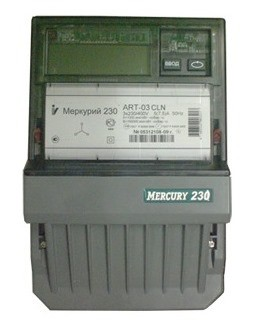 "Счетчик ""Меркурий"" 230 ART-03 CLN 3ф 5-7.5А 0.5s/1.0 класс точн. многотариф.; CAN PLCI ЖКИ Моск. вр. Инкотекс 32834"