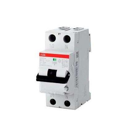Выключатель автоматический дифференциального тока 2п (1P+N) C 16А 30мА тип AC 6кА DS201 2мод. ABB 2CSR255040R1164