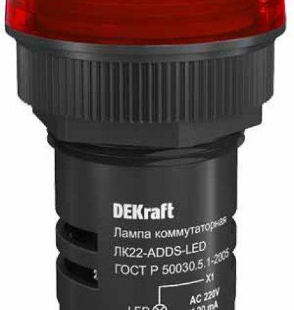 Арматура светосигнальная AD-22DS 220В LED ЛK-22 красн. SchE 25003DEK