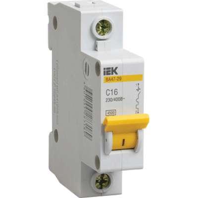Выключатель автоматический модульный 1п C 50А 4.5кА ВА47-29 ИЭК MVA20-1-050-C