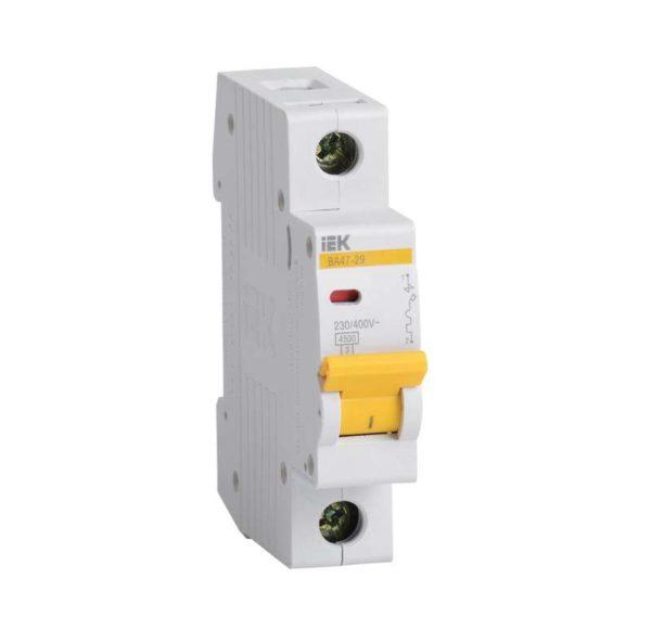 Выключатель автоматический модульный 1п C 1А 4.5кА ВА47-29 ИЭК MVA20-1-001-C