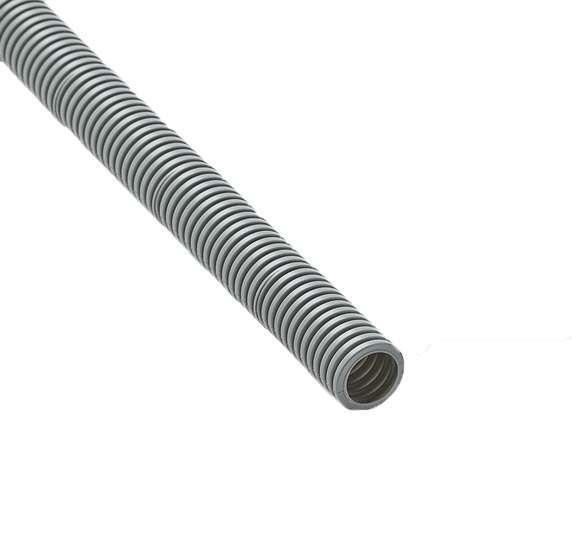 Труба гофрированная ПВХ d25мм с зондом сер. (50м) Рувинил 12501