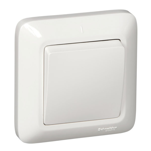 Выключатель 1-кл. СП Прима 6А IP20 бел. (опт. упак) SchE S16-057-B