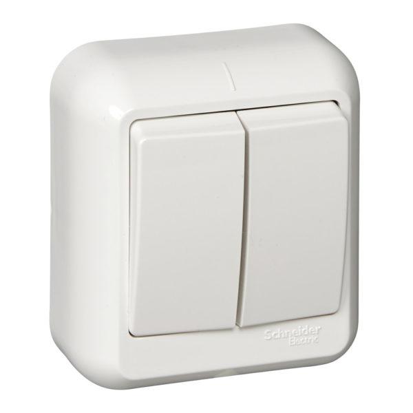 Выключатель 2-кл. ОП Прима 6А IP20 бел. (опт. упак) SchE A56-029-B