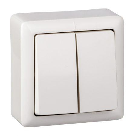 Выключатель 2-кл. ОП Хит 6А IP20 бел. SchE VA56-232-B