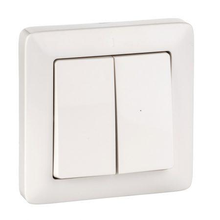 Выключатель 2-кл. СП Хит 6А IP20 бел. SchE VS56-234-B