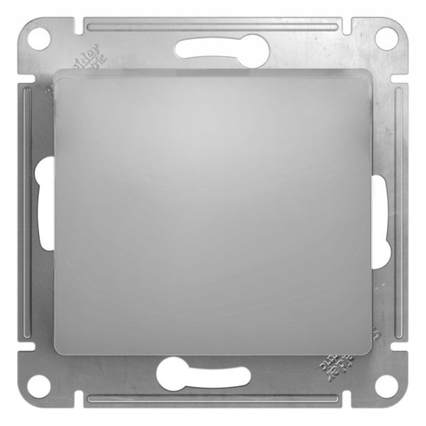 Механизм выключателя 1-кл. СП GLOSSA 10А IP20 10AX алюм. SchE GSL000311