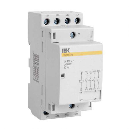 Контактор модульный КМ20-40 20А/4п AC ИЭК MKK20-20-40