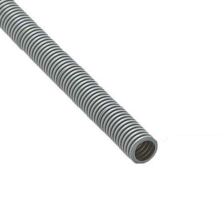 Труба гофрированная ПВХ d20мм с зондом сер. (100м) Рувинил 12001(100)