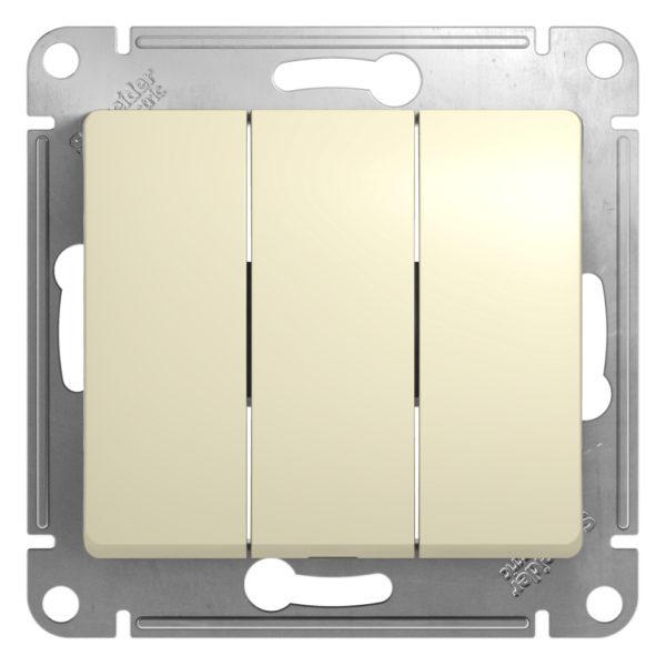 Механизм выключателя 3-кл. СП GLOSSA 10А IP20 10AX беж. SchE GSL000231