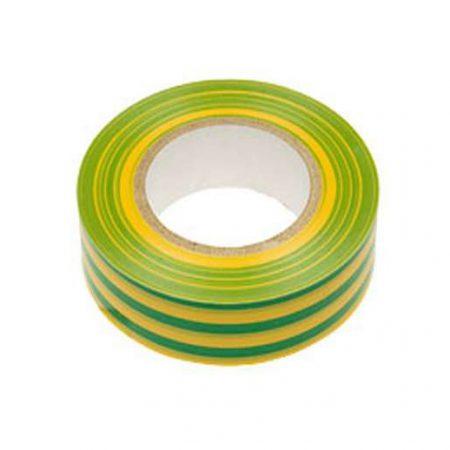 Изолента ПВХ 0.13х15мм (рул.10м) жел./зел. ИЭК UIZ-13-10-10M-K52