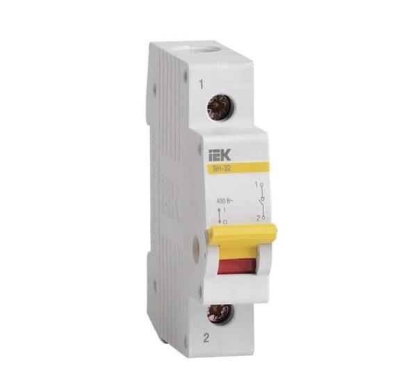 Выключатель нагрузки ВН-32 20А/1П ИЭК MNV10-1-020