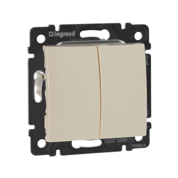 Механизм выключателя 2-кл. СП Valena 10А IP31 сл. кость Leg 774305