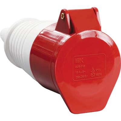 Розетка кабельная 16А 380В 3P+PЕ ССИ-214 IP44 ИЭК PSR22-016-4