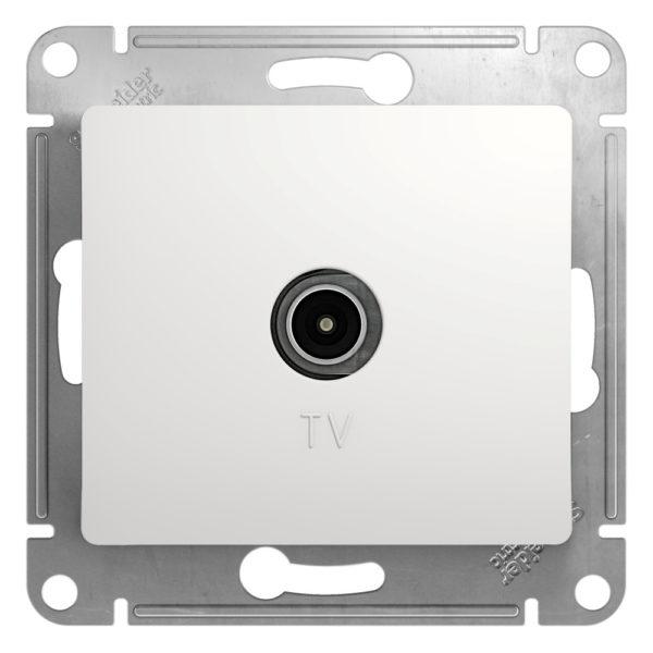 Механизм розетки TV 1-м СП Glossa 1DB бел. SchE GSL000191