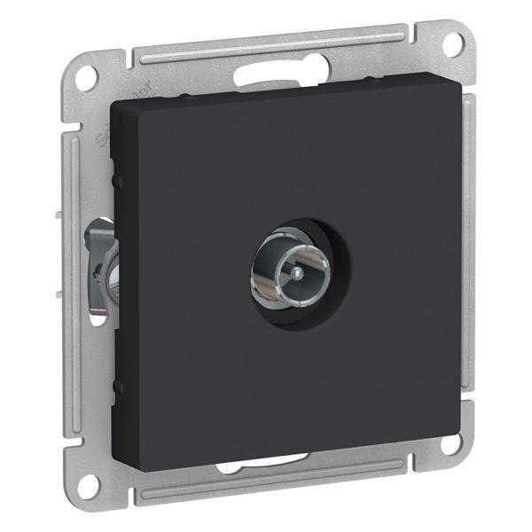 Механизм розетки TV ATLAS DESIGN оконечный 1DB карбон SchE ATN001091