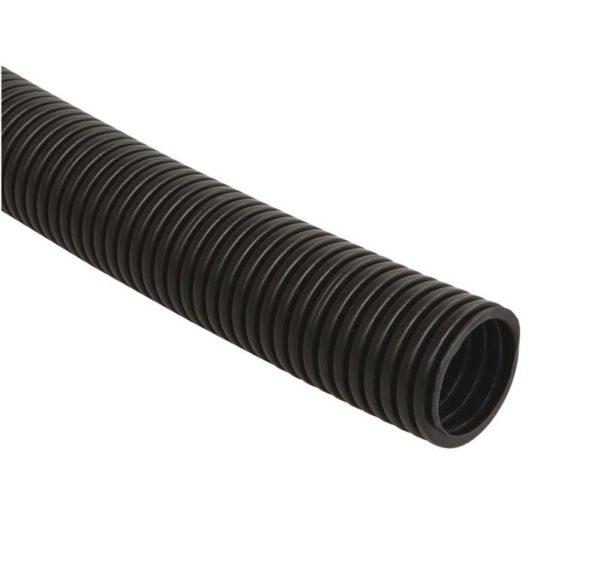 Труба гофрированная ПНД d16мм с зондом черн. (уп.25м) ИЭК CTG20-16-K02-025-1