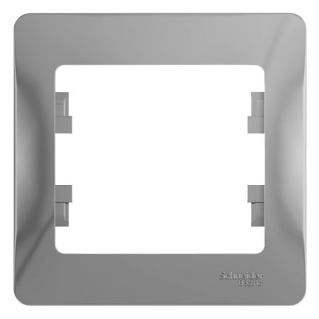 Рамка 1-м Glossa алюм. SchE GSL000301