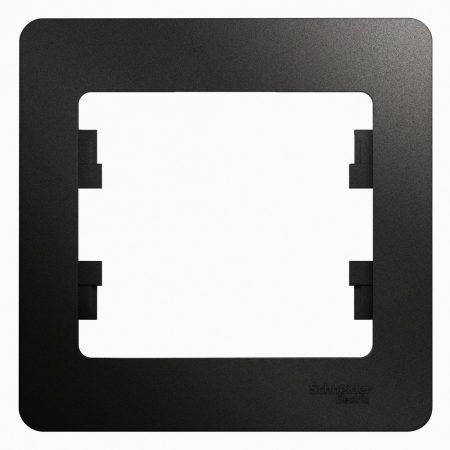 Рамка 1-м Glossa антрацит SchE GSL000701