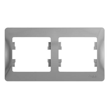 Рамка 2-м Glossa горизонт. алюм. SchE GSL000302
