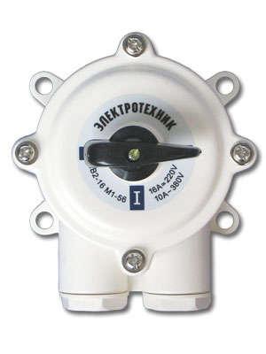 Выключатель пакетный ПВ2-16А в пл. корп. IP56 Электротехник ET001802
