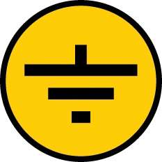 "Символ ""Заземление"" 30х30 ИЭК YPC20-ZAZEM-1-096"