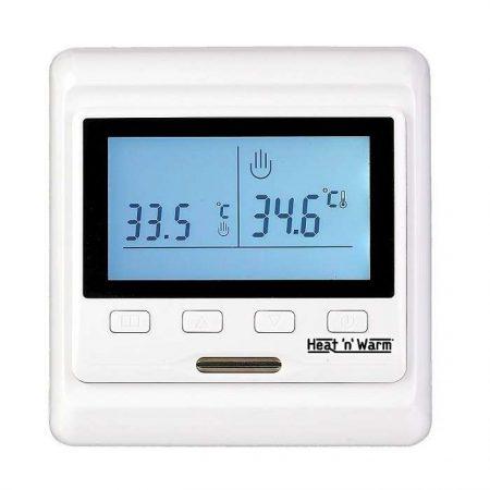 Термостат прогр. HW-500 дисп. датчик пола; датчик возд. 3.6кВт 16А бел. Grand Meyer HW-500